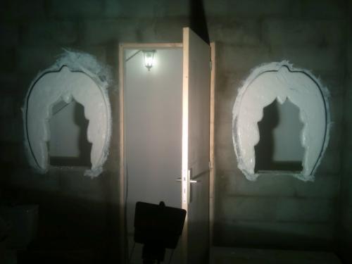 Confection symbole SKYSVOICE encadrement de fenêtres en béton armé