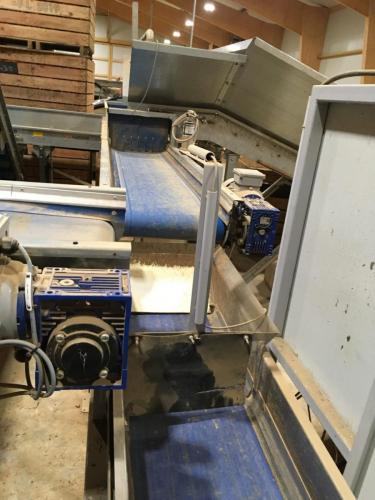 modification suppression tôle anti-superposition légumes et rehaussement capteur (Machine de pesage agricole)