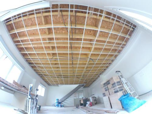 001 Pose structure plafond suspendu